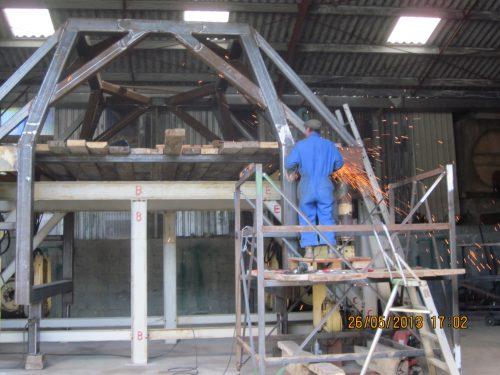 Construction Récoleuse enjambeur n° 2